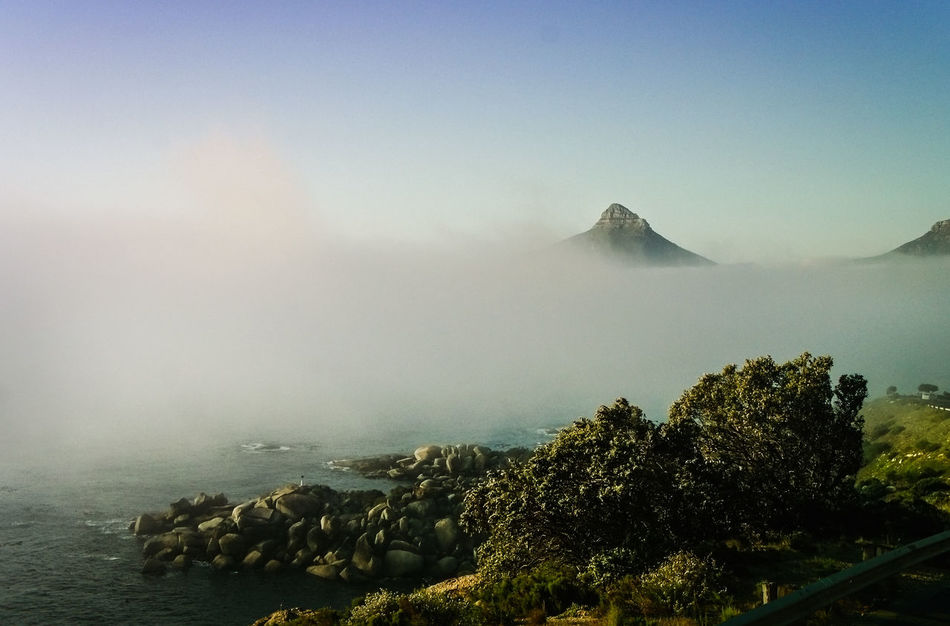 Roadtrip back to Cape Town, view of Lion´s Head Beauty In Nature Cape Town Capetown Fog Landscape Lionshead Mountain Nature Outdoors Roadtrip Roadtrippin' Rock Scenics South Africa Southafrica SouthAfrican Southafricanflora Southafricanskies Southafricanwildlife Tablemountain Tranquil Scene Tranquility Water First Eyeem Photo