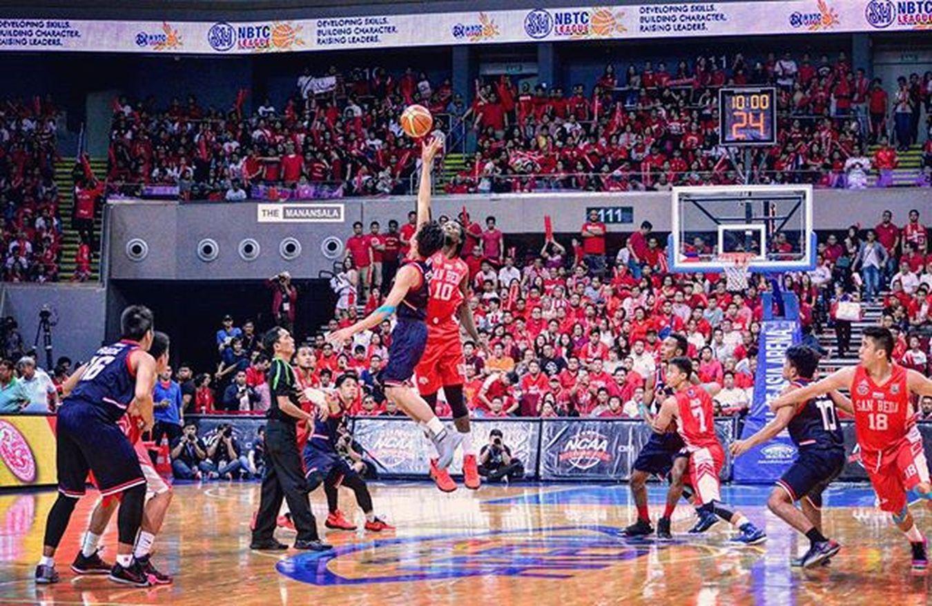 Only one team is DESTINED to bring home the crown of NCAA Season 91 Seniors Men's Basketball Championship! Bethestory 🏀⚡🏆 . . . NCAA Ncaa91finals Ncaa91 ncaaseason91 SBCvsCSJL letran letranknights sanbeda redlions hoop ballers ballislife basketball themanansala