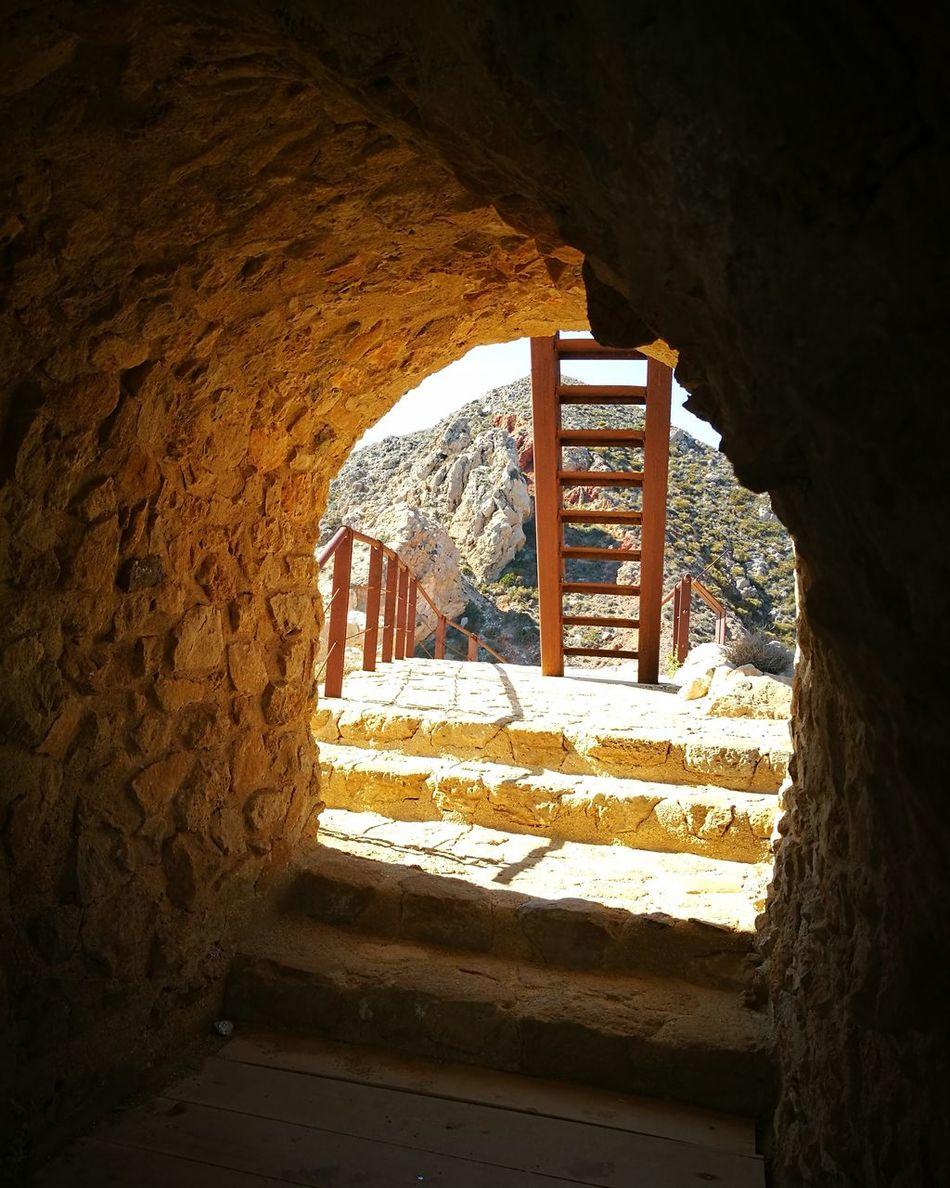 Torre el pirulico - Mojacar No People Indoors  Tunnel Prison Illuminated Architecture Day Mojacar Almería Almeriaturismo