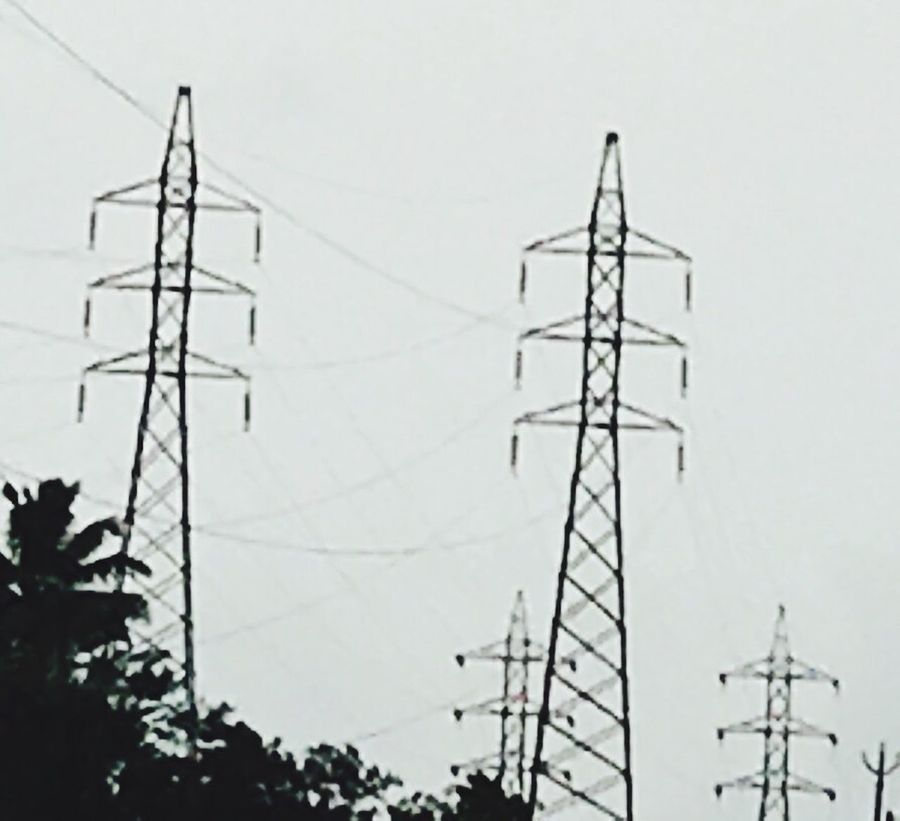 Connection Cable Technology Electricity  Electricity Pylon Low Angle View Power Line  No People Outdoors Day Power Supply Fuel And Power Generation Sky Clear Sky Complexity Nature Close-up