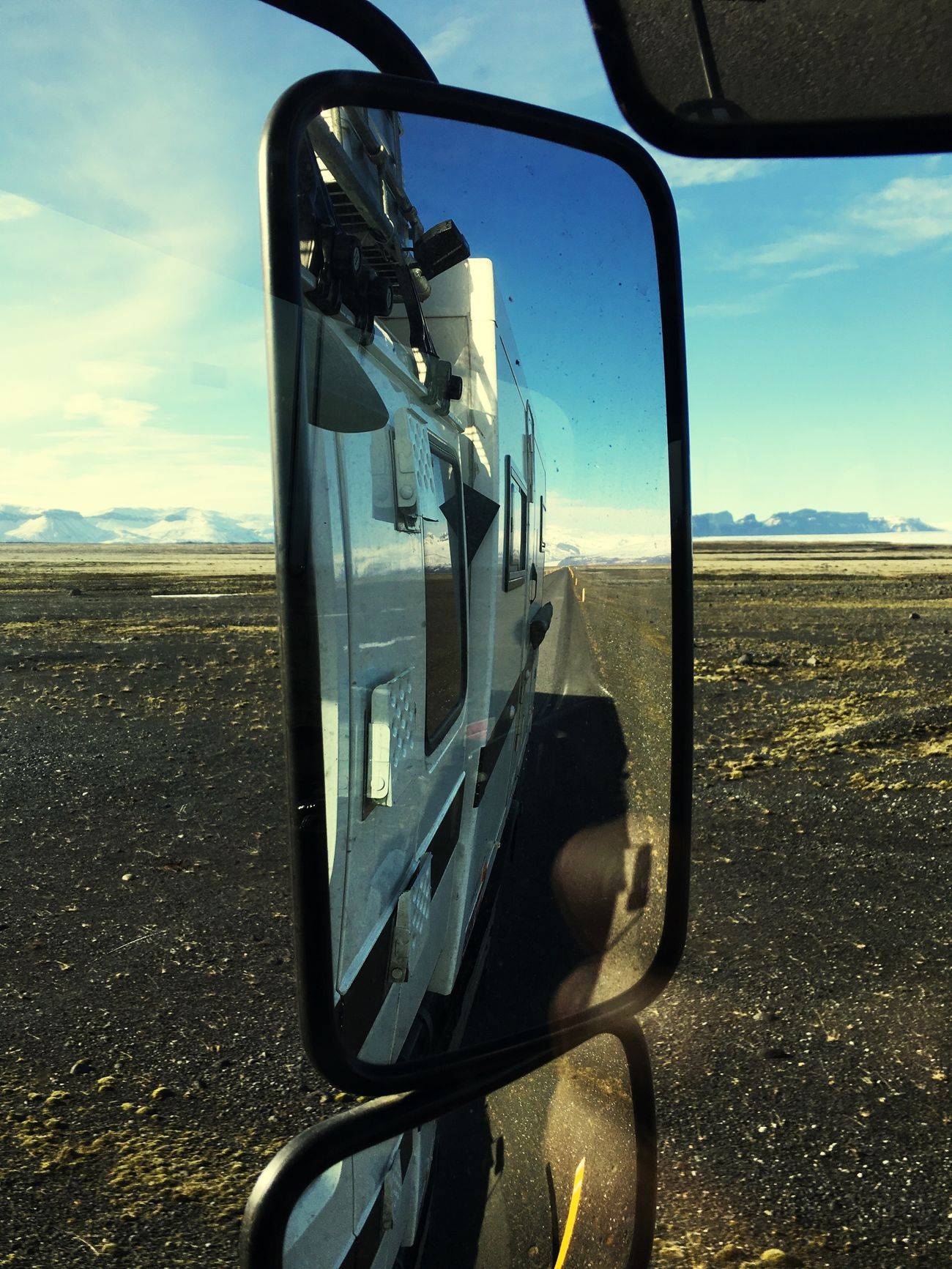 Driving Mirror Great View Landscape Iceland116 Iceland_collection