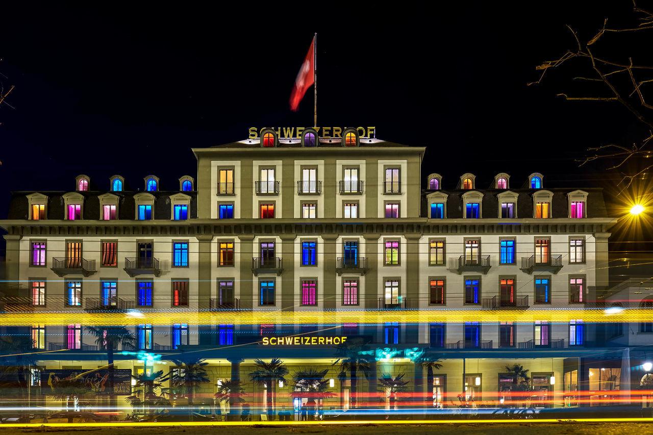 Beautiful Colorful Fujifilm_xseries Lucerne Night Lights Swiss Swiss Luzern Switzerland