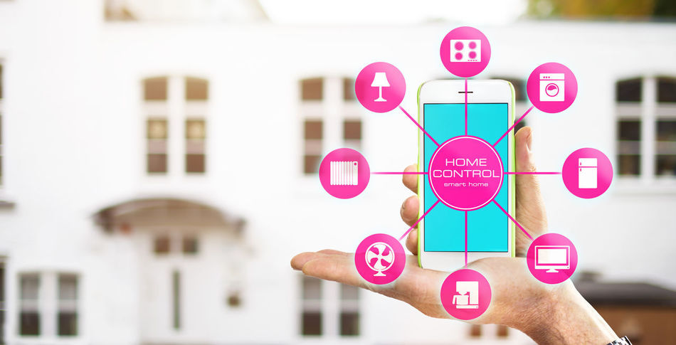 smart home home automation app on mobile phone App Appartment Automation Computer Control Future Gadgets Hand Home Automation House Indoors  Mobile Smart Home Smartphone Technology