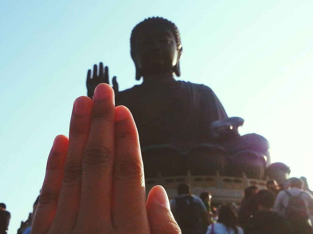 Keep the Faith. Buddha's hand. Hongkong Photos Faith Hands People And Places Person Buddha Buddha Head Buddha Hand EyeEm Best Shots Travel TakeoverContrast