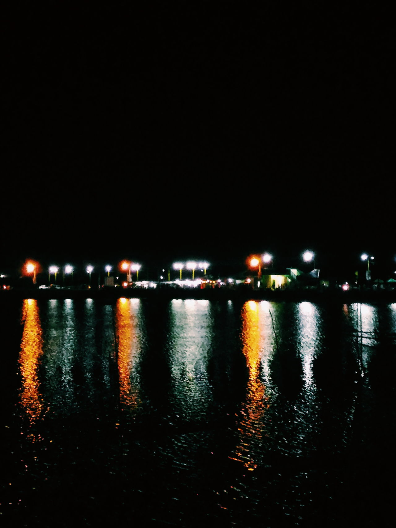 Sorsogon Baywalk Baywalk Nightwalk Sorsogoncity Reflection Reflections In The Water