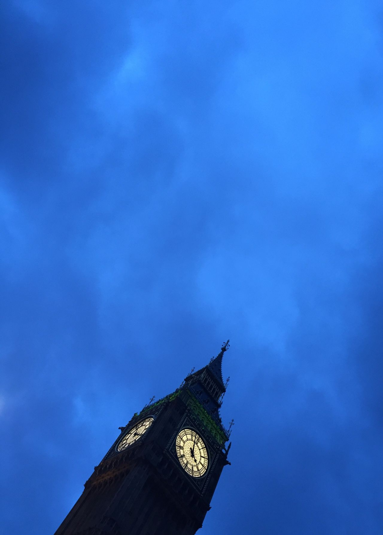 Architecture No People Blue Clock Tower Clock Big Ben Travel Destinations London Neighborhood Map Night Cloud - Sky