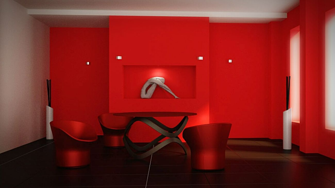 RED ROOM Interior Design Rendering Render 3drender Grafica Computer Time Red RedRoom Darkness And Light