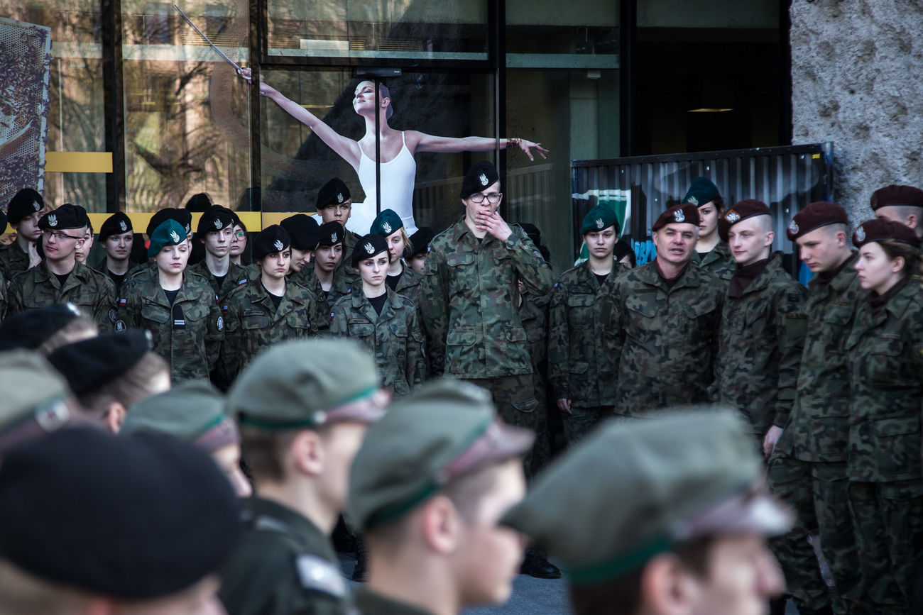 Annual event marking a national anniversary in Lublin, Poland. Ballet Beret Celebration Contrast Juxtaposition Large Group Of People Memories Military Plane Crash Recruitment Scouts Smolensk Standing The Photojournalist - 2017 EyeEm Awards Togetherness Uniform Uniforms Yawn Yawning Young Adult