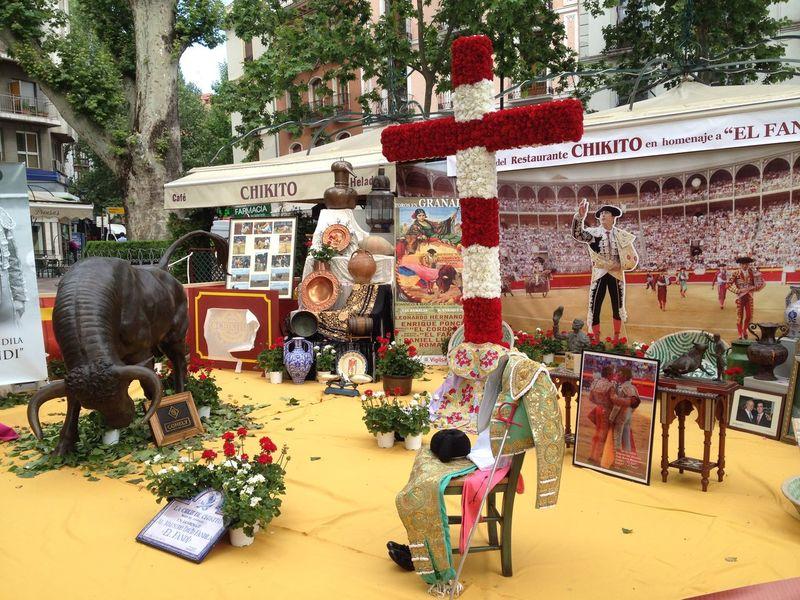Erinerung Fest Flower Lifestyles Outdoors Religiöses Fest Stierkampf Stierkämpd