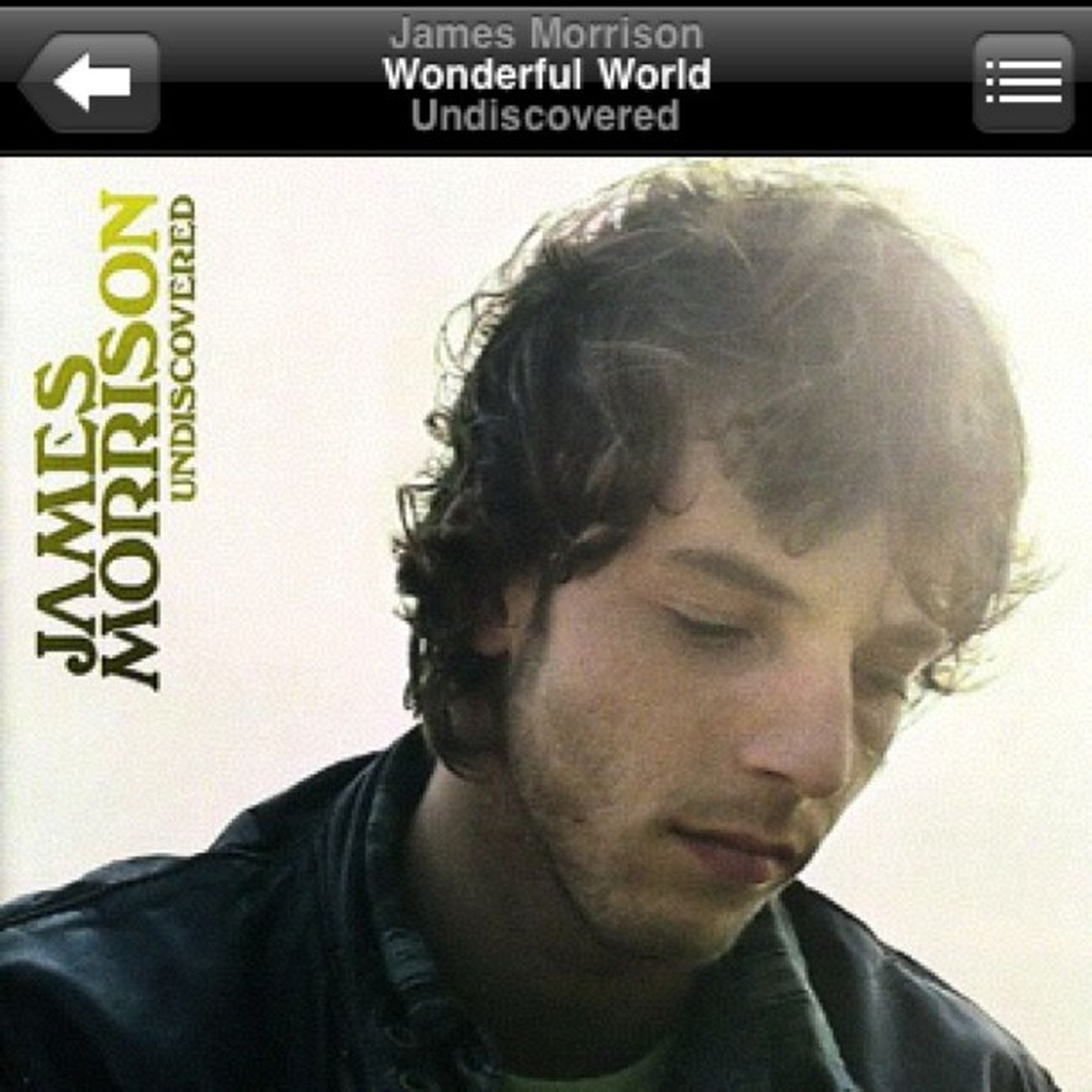 Listening to James Morrison on a rainy afternoon. Jamesmorrison Wonderfulworld Lss Rainyafternoonplaylist