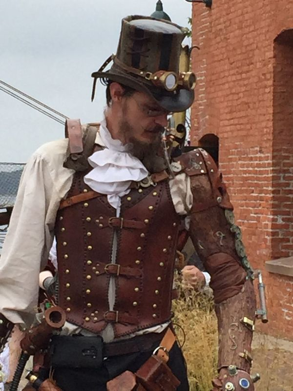 Art Bizarre Brass Screw Confederacy Costumes Cultures Fancy Dress Festival Hats Lifestyle Man Old And New Science And Technology Science Fiction Steam Punk Steampunk