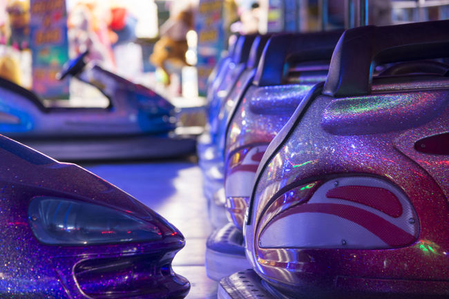 Close-up Dodgems Fairground Attraction Fairground Ride Focus On Foreground In A Row No People Order The Past Vehicle Hood
