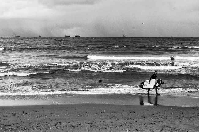 Sea People Watching Monochrome Real People Lifestyles Horizon Over Water Leisure Activity Men Day Sport Sky Full Length Bnw_society Monoart The Week Of Eyeem The Human Condition Landscape People City Life The EyeEm Collection Travel Photography Turkey Nature Istanbul Europe Roads