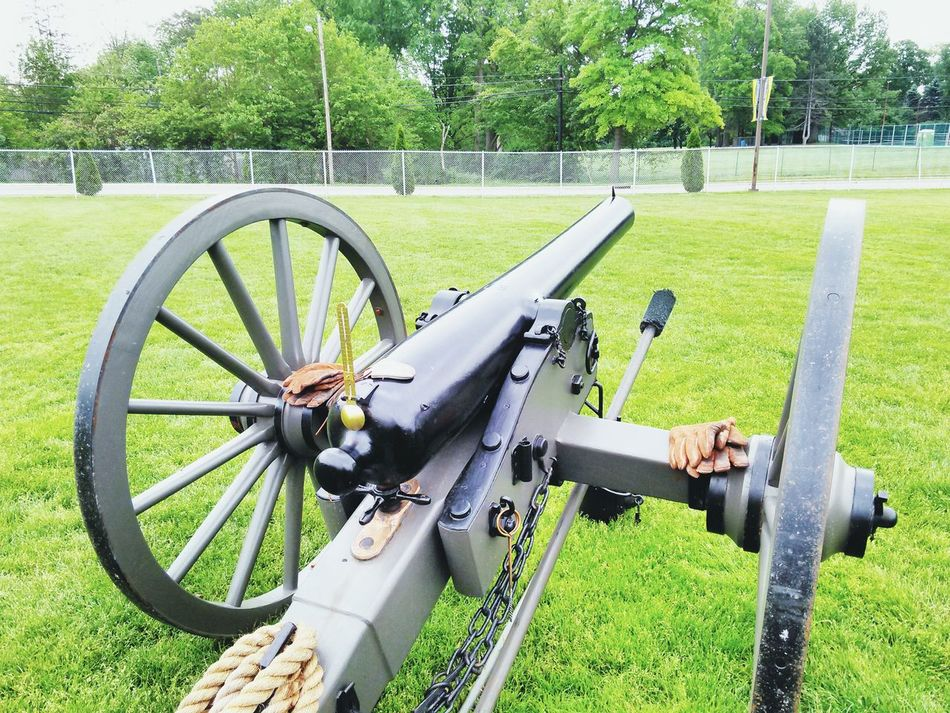 Beautiful stock photos of gun, Cannon, Day, Fence, Field