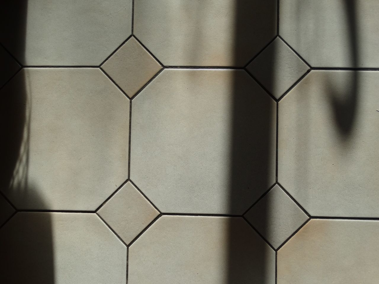 Floor and shadows. Pattern Hexagon Geometric Shape Shape No People Close-up Day Shadow Shadows Floor Flooring Backgrounds Simplicity Perspective Textured  Textures And Surfaces Texture Kitchen Kitchen Floor Tiles Tile Tiling