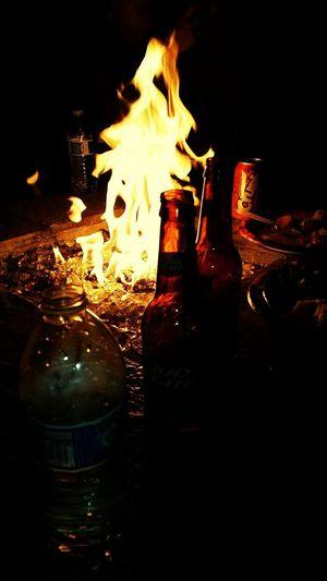 A night out Beer Fire Friend Bonfire🔥