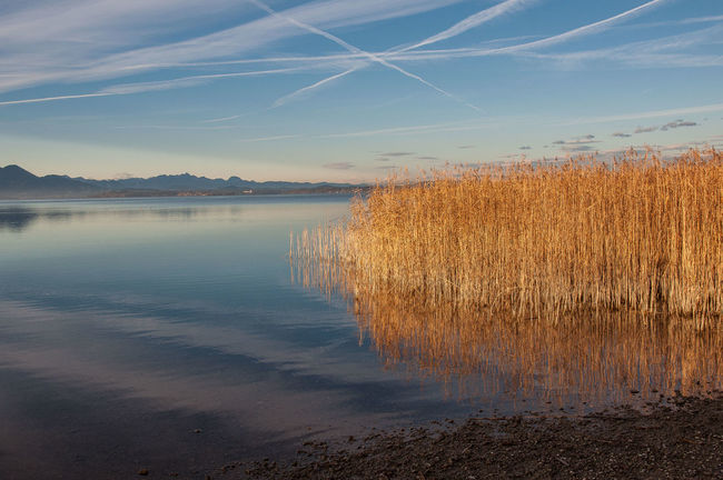 chiemsee Beauty In Nature Day Horizontal Nature No People Outdoors Reflection Scenics Sky Sunset Tranquility Water