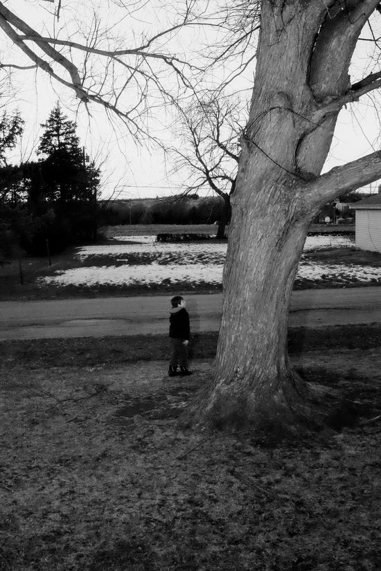 Visual Journal December 2016 Southeast Nebraska (Fujifilm X100s) edited with Google Photos. B&w Photography Bare Tree Blackandwhite Childhood Composition Day Everyday Lives EyeEm Gallery Fuji X100s Lifestyles Nature Outdoors Photo Diary Photo Essay Real People Rear View Rural America Small Town Stories Standing Stark Contrast Taking Photos Tree Tree Bark Visual Journal Winter