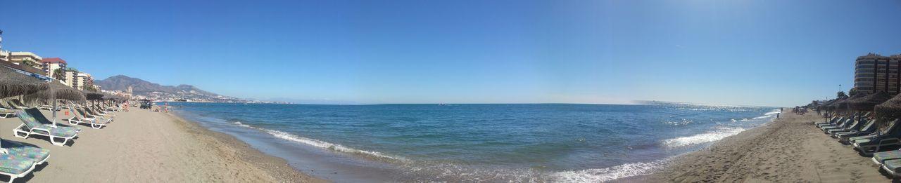 Beach Dirt Meets Water FUENGIROLA  Panorama Sunny