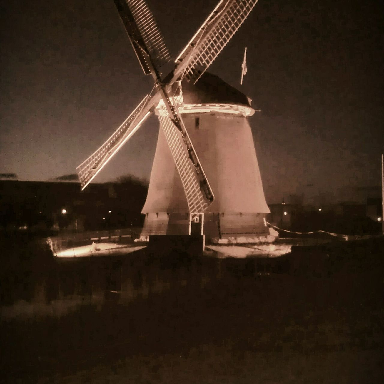Netherlands Night Built Structure No People Outdoors Sky Windmill