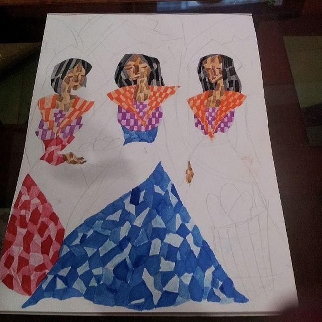 Painting mode... Cubism Painting Ladies Pinoyartist watercolor kevoartist