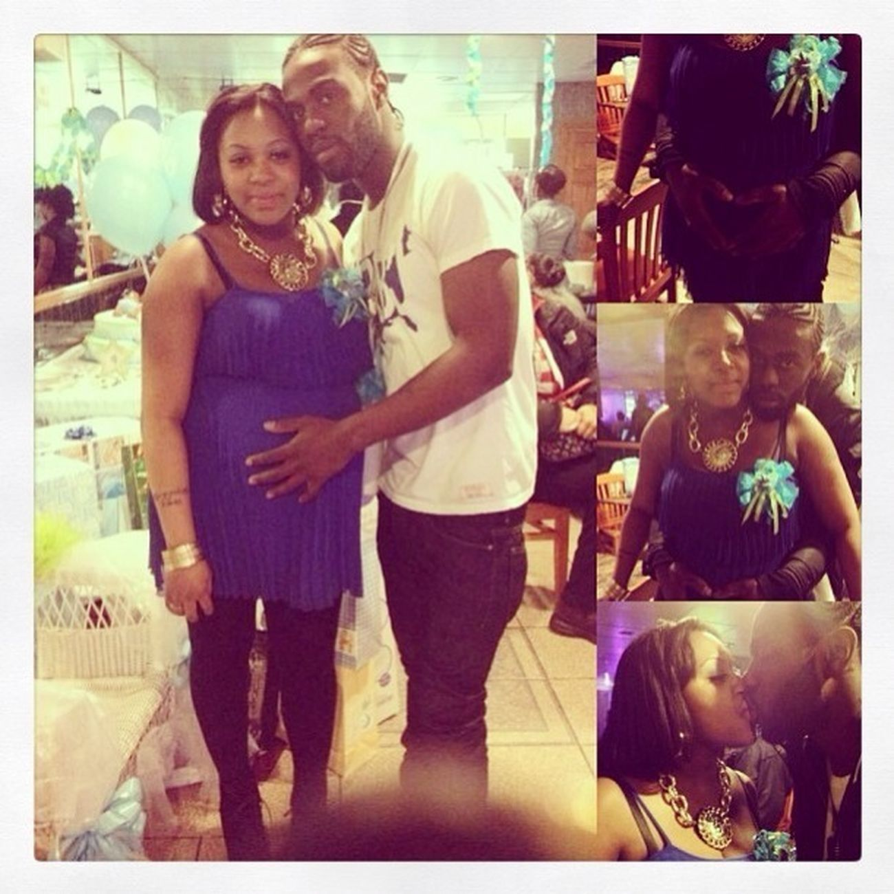 Hubby & I At Our Baby Shower