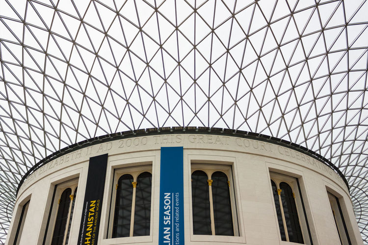 British Museum interior, London, England Arch Architecture British Building Exterior Built Structure Ceiling Courtyard  Day Dome England Entrance Famous Place Geodesic Geodesic Dome Indoors  Landmark London Low Angle View Modern Museum No People Reading Room Tourism Tourist Attraction  Window