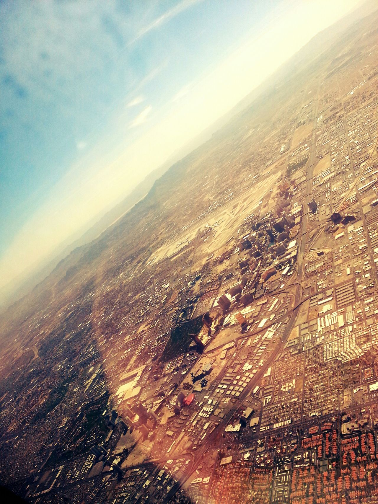 View From A Plane Vegas  From An Airplane Window City In The Desert Deserts Around The World