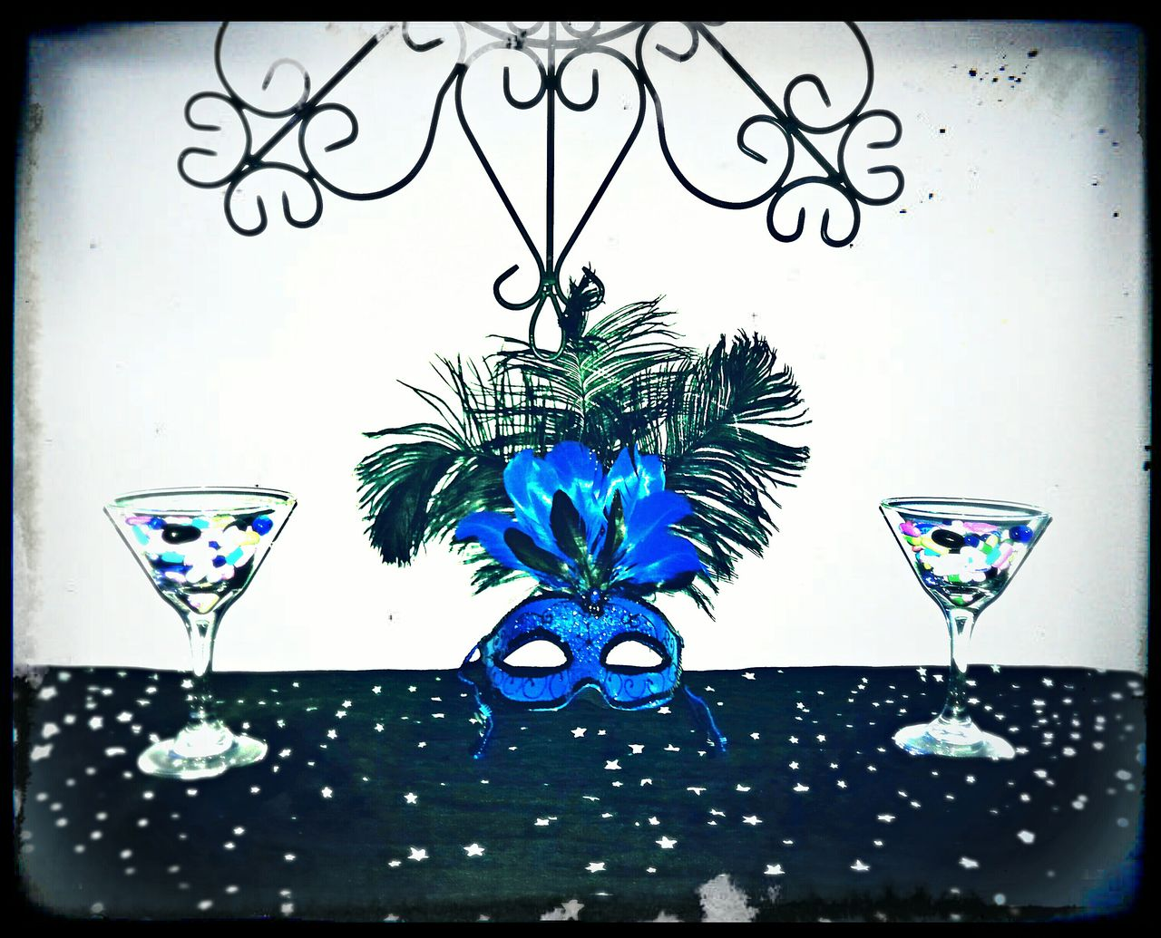 "The Medicine Martini Photo Collection Medicine Martini Mask Wall Art Life Lessons Blue Edit Double Martini Photo Collection Original Photography Azul ""The Medicine Martini"" Photo Collection - Blue Wide Shot"