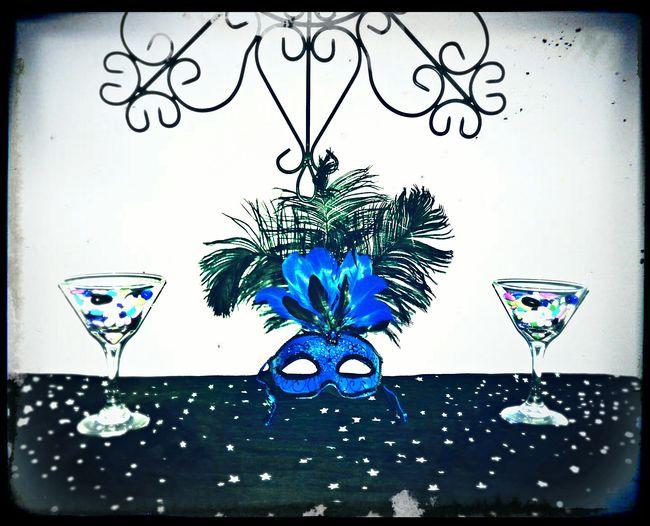 "The Medicine Martini Photo Collection Medicine Martini Mask Wall Art Life Lessons Blue Edit Double Martini Photo Collection Original Photography Azul ""The Medicine Martini"" Photo Collection - Blue Wide Shot"