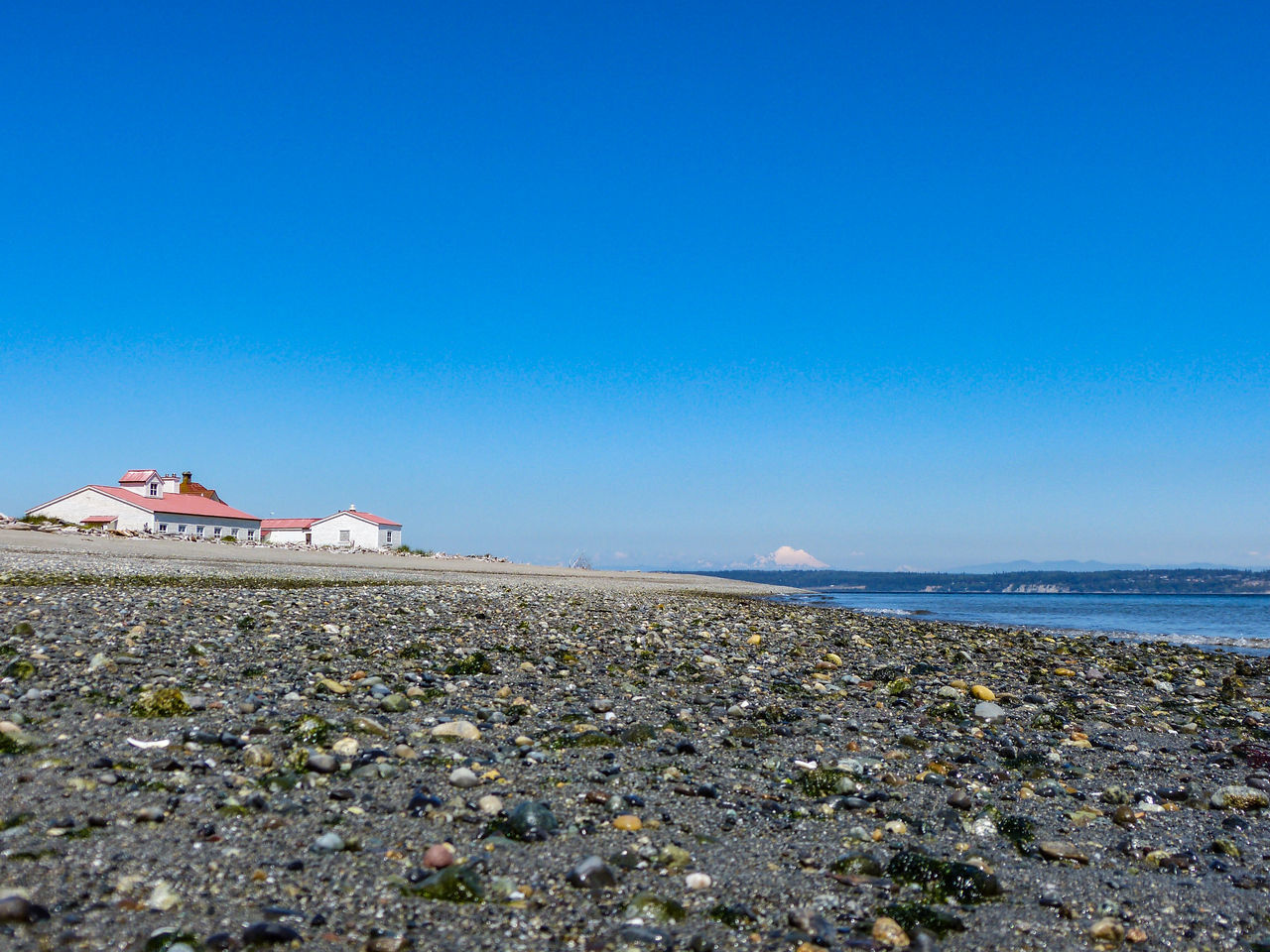 Architecture Beach Beach Photography Beachphotography Beauty In Nature Cascade Mountains Day Horizon Over Water Low Angle View Mt. Baker Pebbles Puget Sound Sea Sea And Sky Shore Water