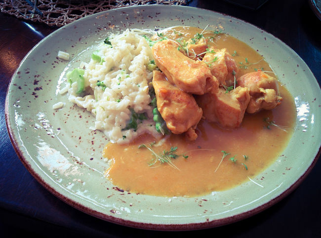 Chicken Curry with Risotto - another good one at Steak Royal!