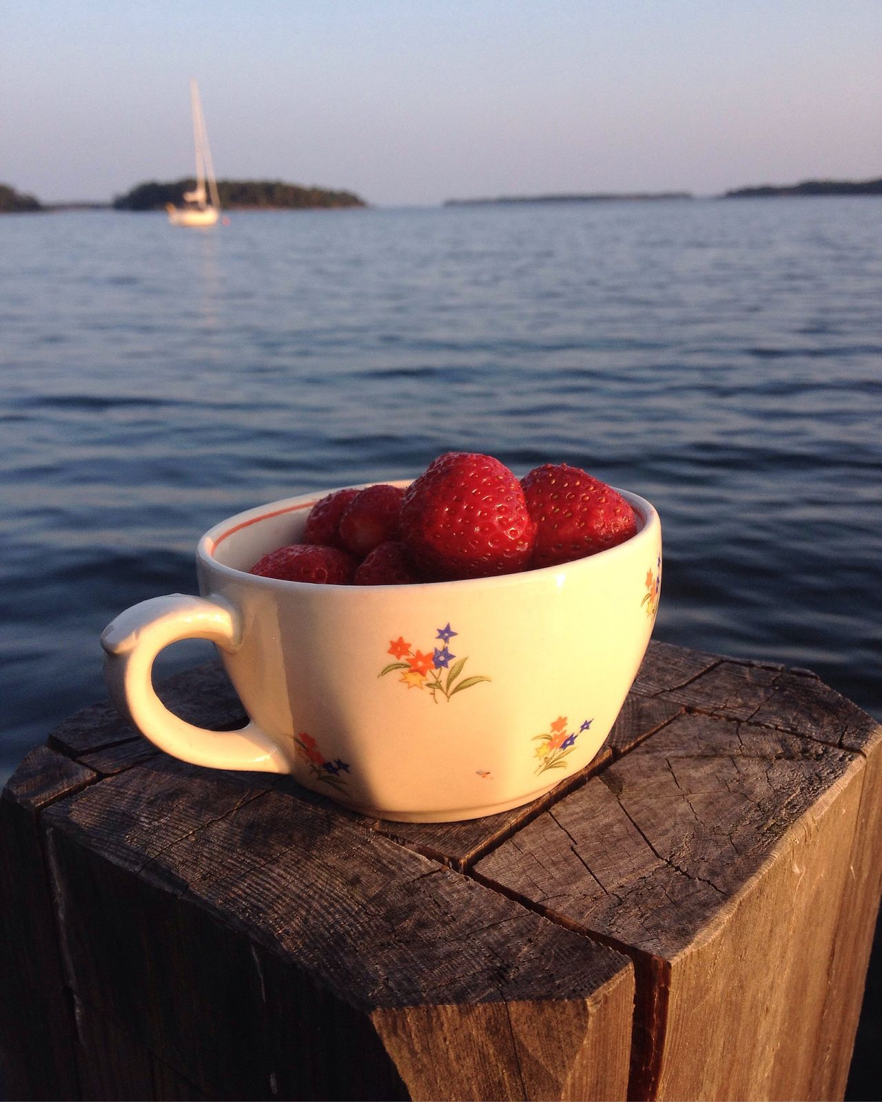 Strawberries Finnish Archipelago Finnish Summer Sea And Sky Sailing Boat Finland White Night Hot Summer Night