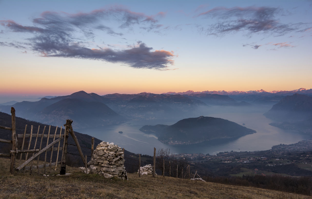 A breathtaking sunrise from a privileged point of view Beauty In Nature Cielo Clouds Iseo Italia Italy Lago Lake Landscape Lombardia Morning Mountain Nature No People Nuvole Outdoors Panorama Sky Sulzano Tranquility