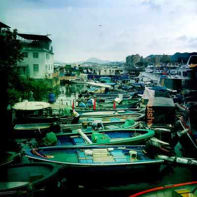 boats in Sai Kung by Cara Gallardo Weil
