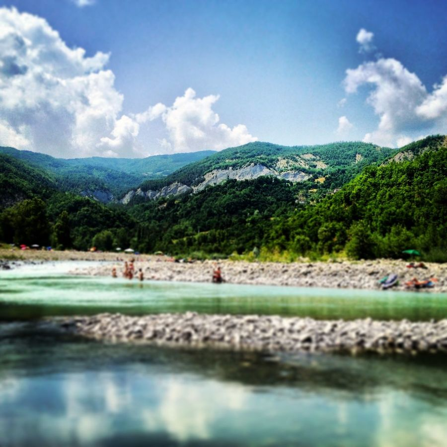 Rock Green Atmosphere River Nature Mountain Water Beauty In Nature Tree Trebbia Relaxing Italy