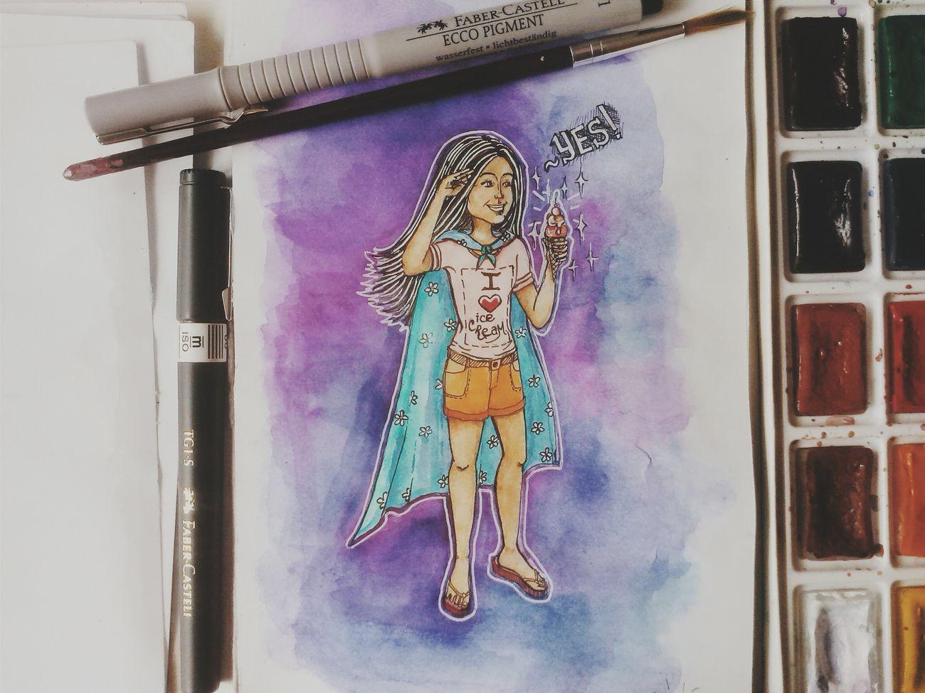 Летнее творчество Icecream Yes Babygirl Superhero Summer ☀ ArtWork