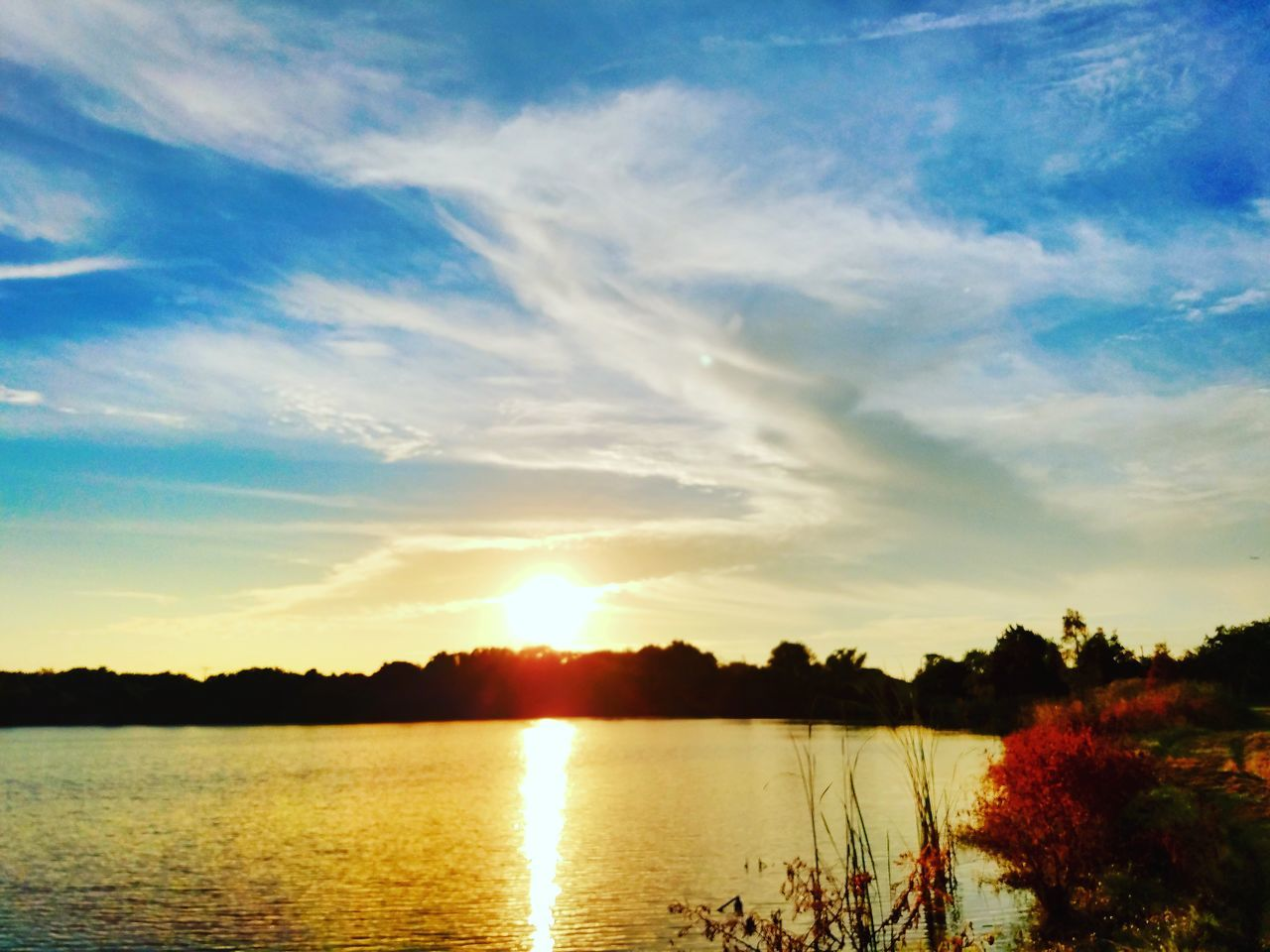 Sunset Reflection Nature Water Sky Scenics Outdoors Landscape No People Tree Day