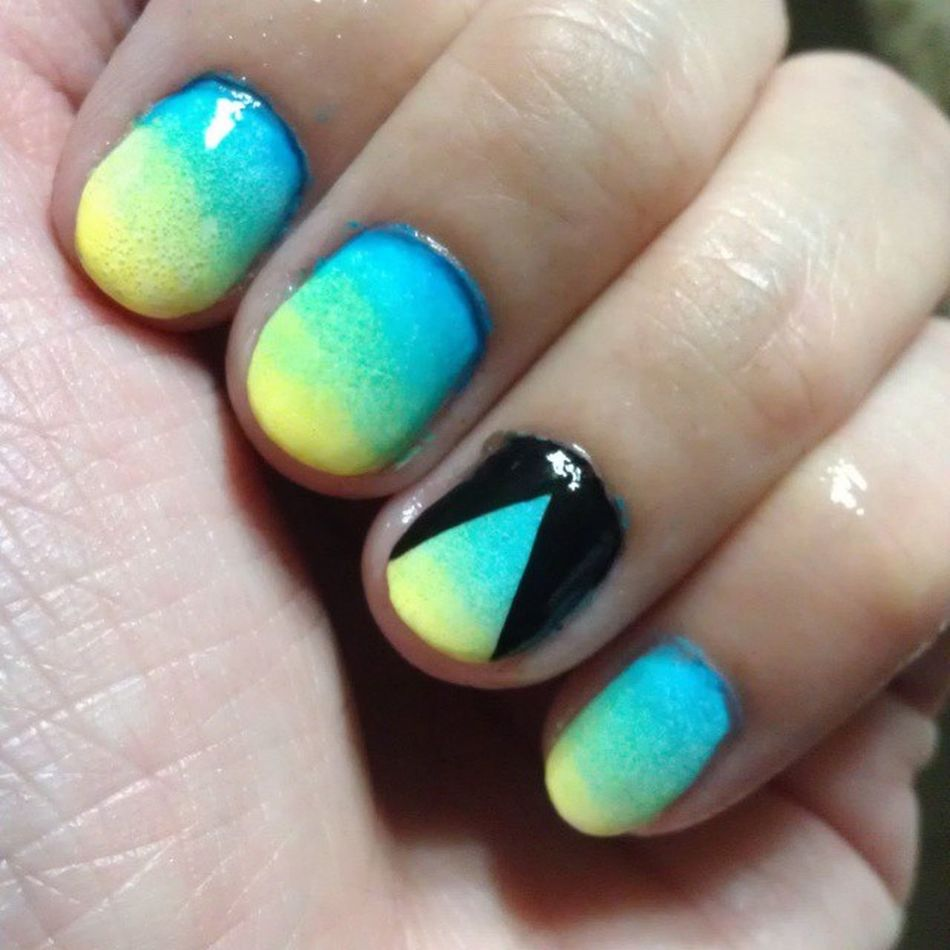 Couldn't help but add..ahaha Pyramid Matteombre Happynails