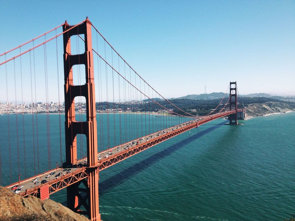 Beautiful stock photos of california, Architecture, Bay, Bridge, Clear Sky