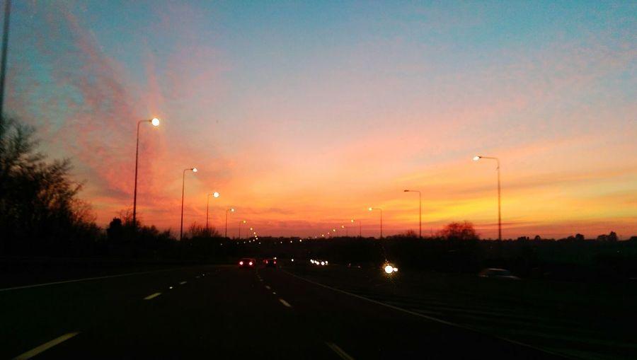 M5 sunset Roadtrip Sunset Road Journey Car Journey