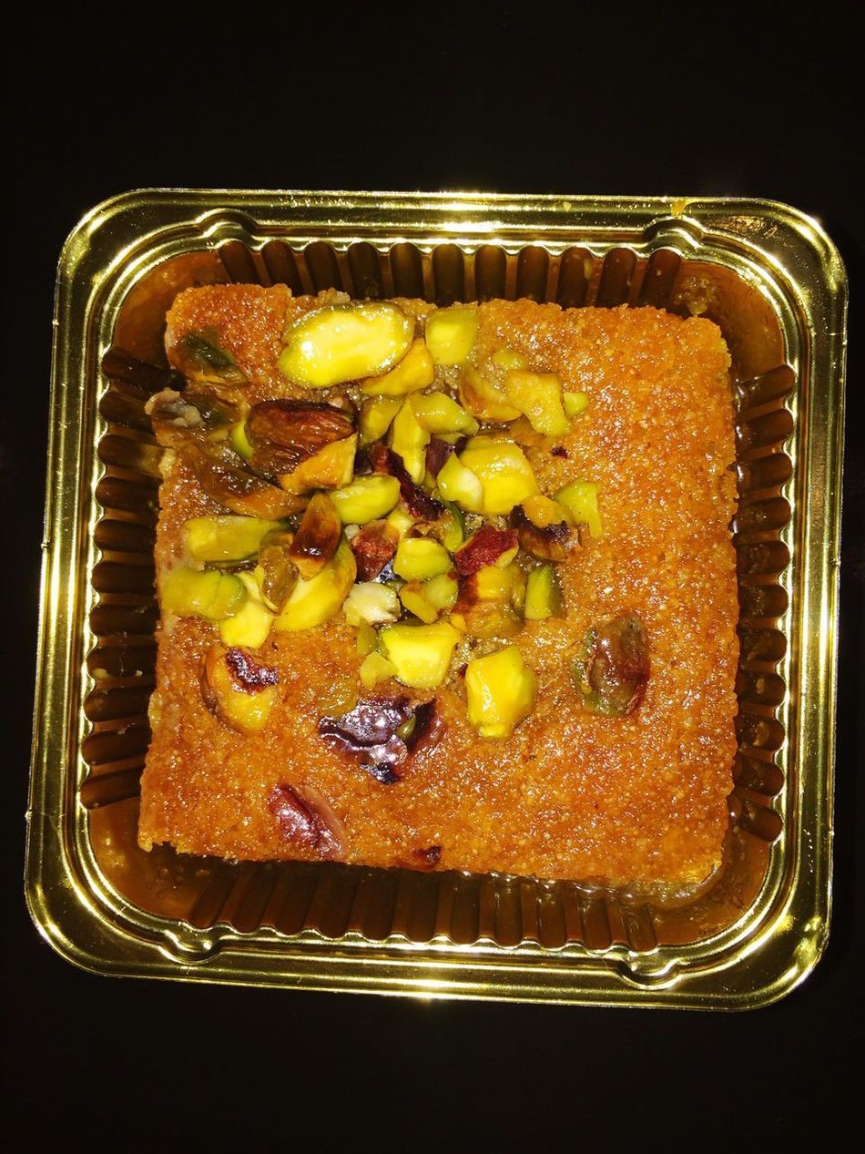 Eating Lebanese 🇱🇧 Semolina Pistachio Basbousa  Cake Cakes Yummy Yum 😛😛😛 Semolina Cake Basboussa Cake♥ Cake Time Eating Good Food Food And Drink Freshness Ready-to-eat No People Indoors  Healthy Eating Close-up Eating!  Yummy♡ Cake Cake Cake Cake  EyeEmNewHere