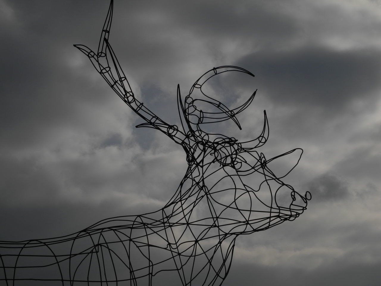 Arche de la nature 3D Art Cloud - Sky Day Deer Nature Outdoors Outside Art Sculpture