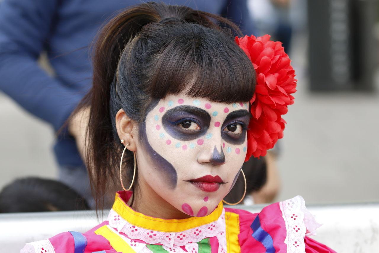 Costumes Cuture Dıa De Muertos Mexico Mexico City Parade Tradition Traditional Culture