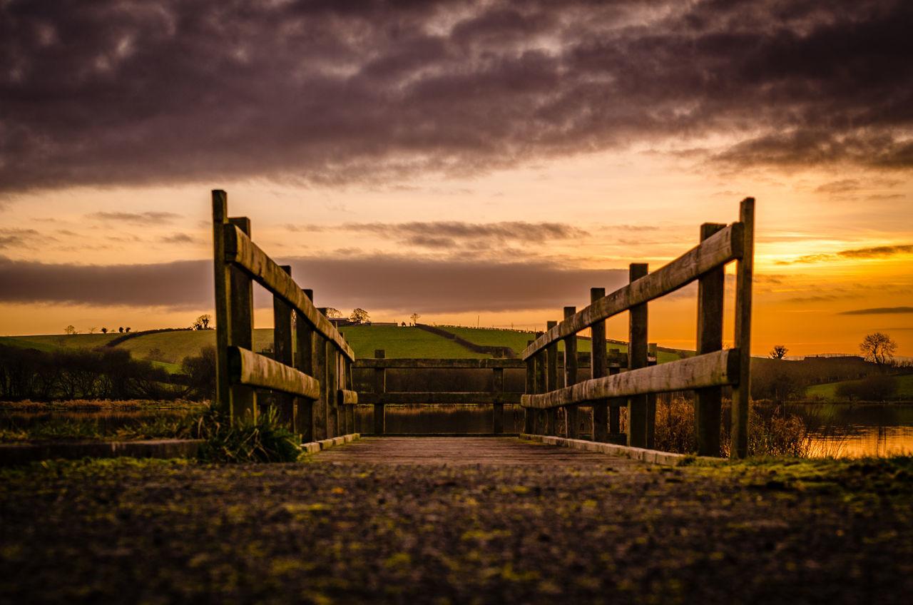 Beauty In Nature Cloud - Sky Day Irish Jetty View Landscape Lough No People Outdoors Railing Sky Sunset Walkway Wooden Bridge