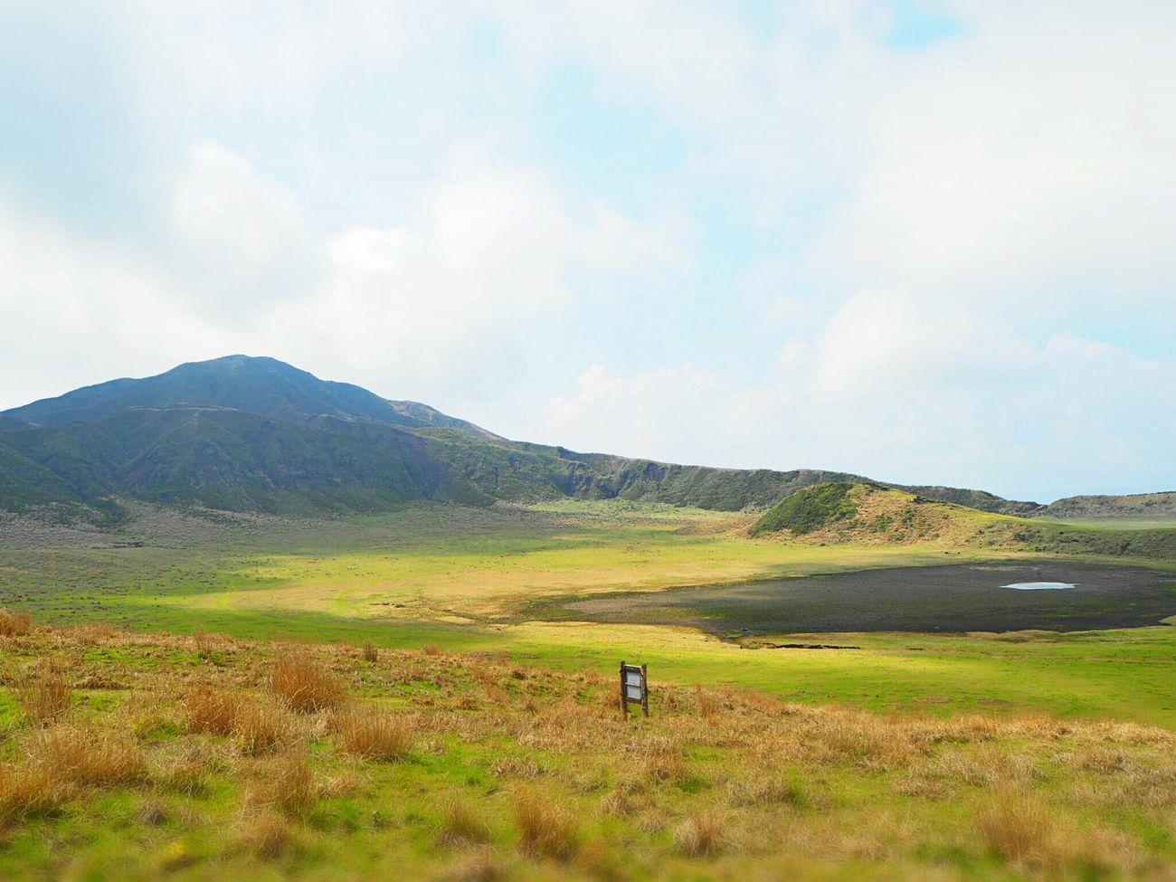草千里ヶ浜 Taking Photos Beautiful Nature Traveling Landscape Grassfield