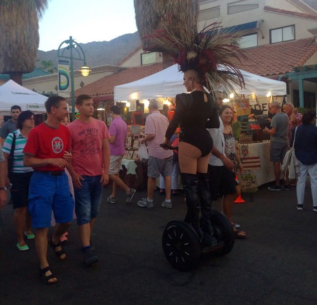 Walking Around Diva Segway Dragqueen