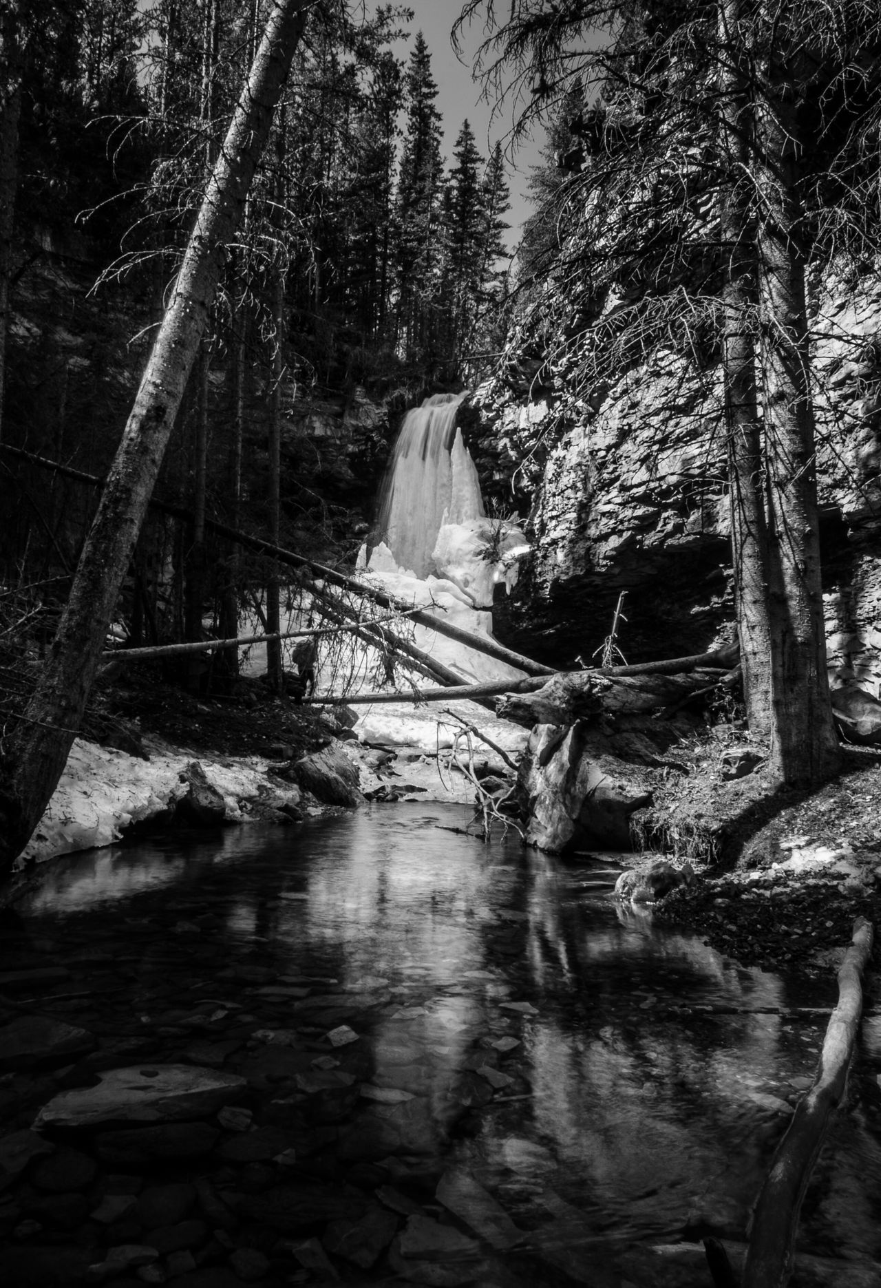Troll Falls Water Reflections Blackandwhite Photography Nature Photography Hiking Hiking Adventures Spring Longexposure Mountain