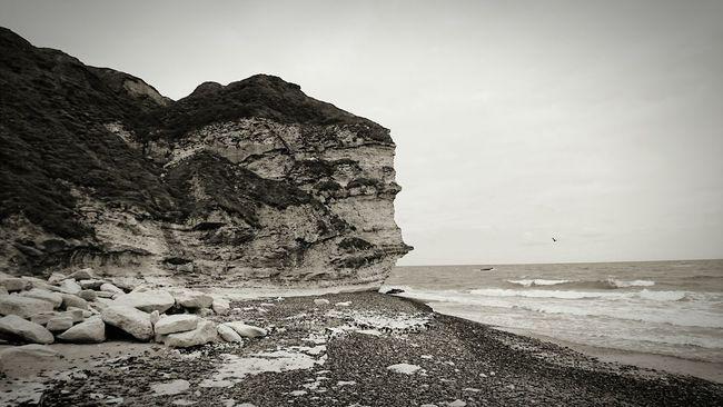 Bullbjerg Ozean Sea Black And White Cliff