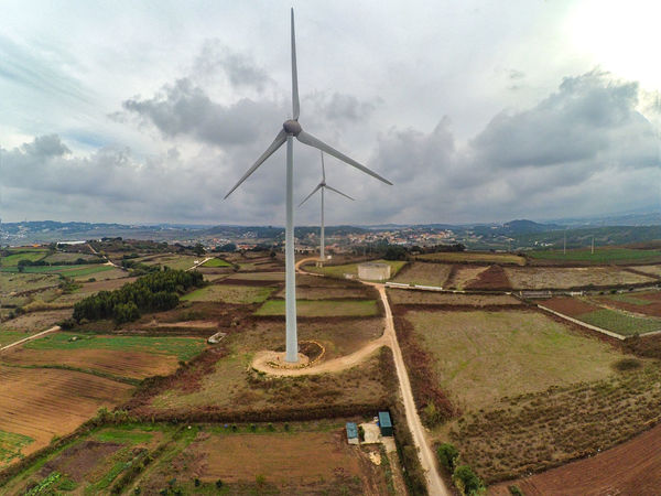 Alternative Energy Beauty In Nature Cloud - Sky Day Environmental Conservation Field Fuel And Power Generation Industrial Windmill Landscape Nature No People Renewable Energy Rural Scene Scenics Sky Tranquil Scene Wind Power Wind Turbine Windmill